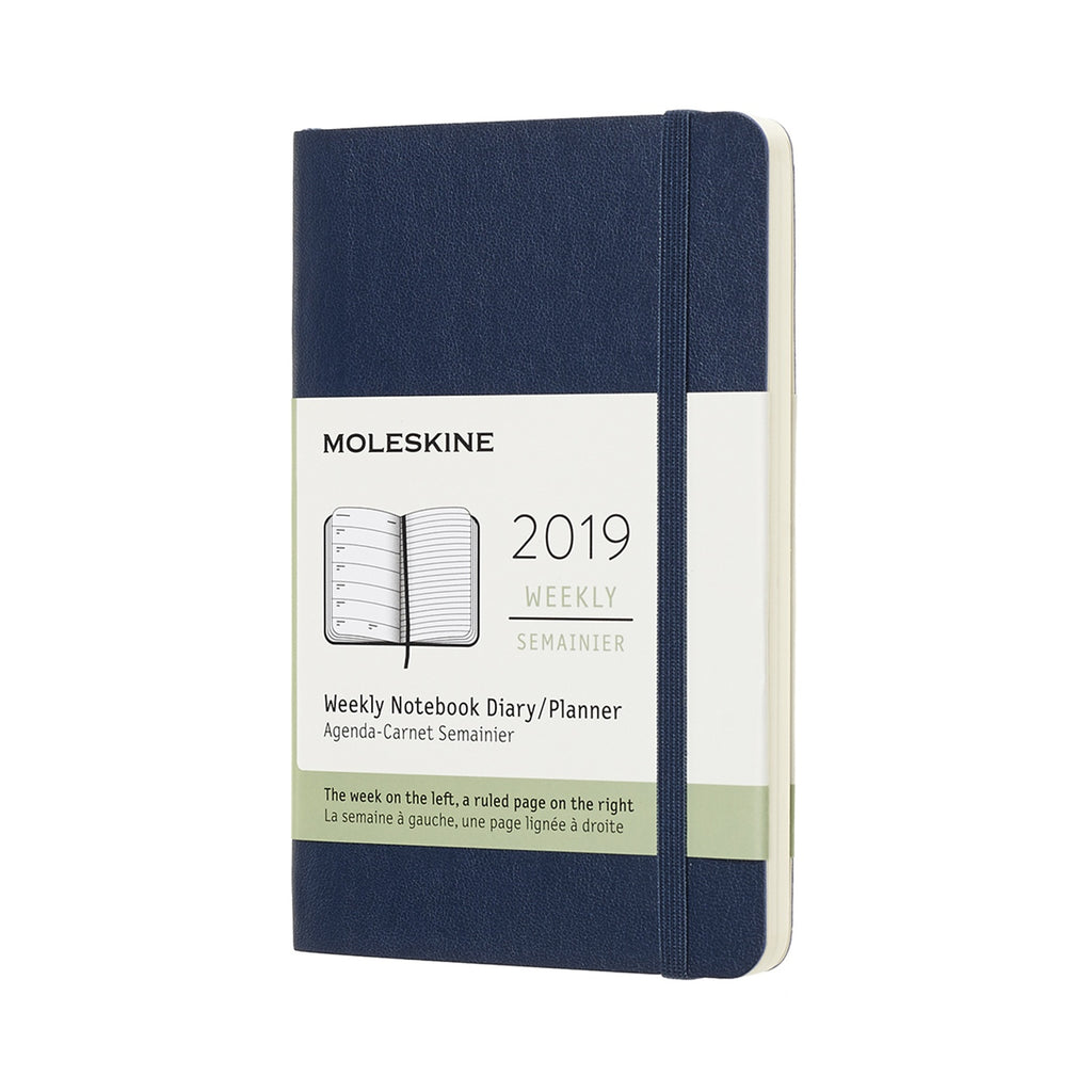 2019 Moleskine Weekly Pocket Planner Softcover Sapphire Blue