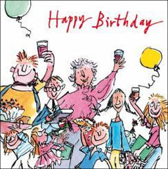 Quentin Blake Happy Birthday Party Card