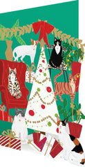 Fabulous Felines Laser Cut Christmas Card