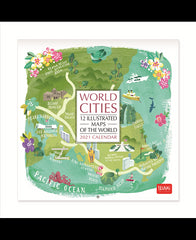 World Cities 2021 Small Calendar