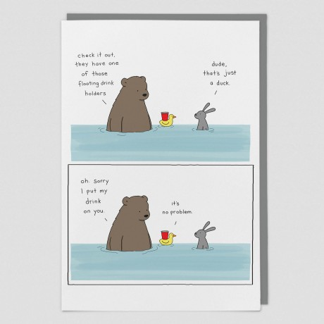 Drink Duck Liz Climo Card