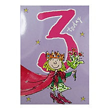 3 Today Quentin Blake Birthday Card Crown and Heels