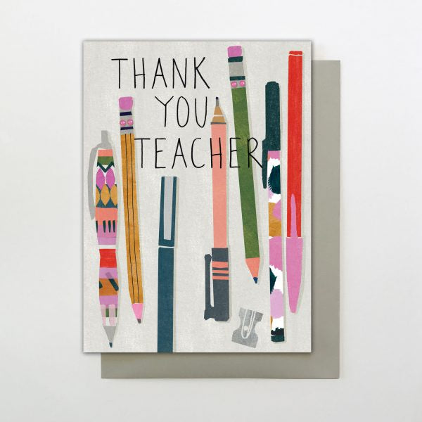 Thank You Teacher Pencils Card