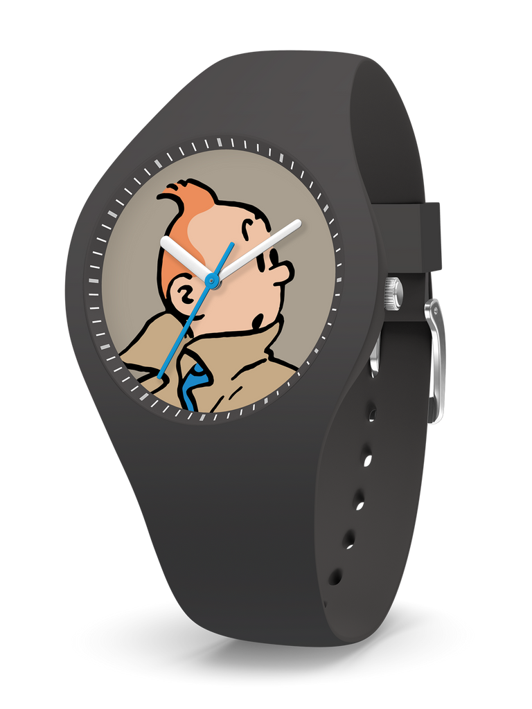 Tintin Watch - Tintin in Grey