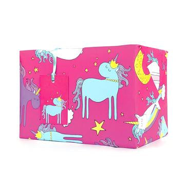 Pink Unicorn Wrapping Paper
