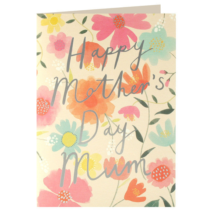 Happy Mother's Day Mum Card - Flowers
