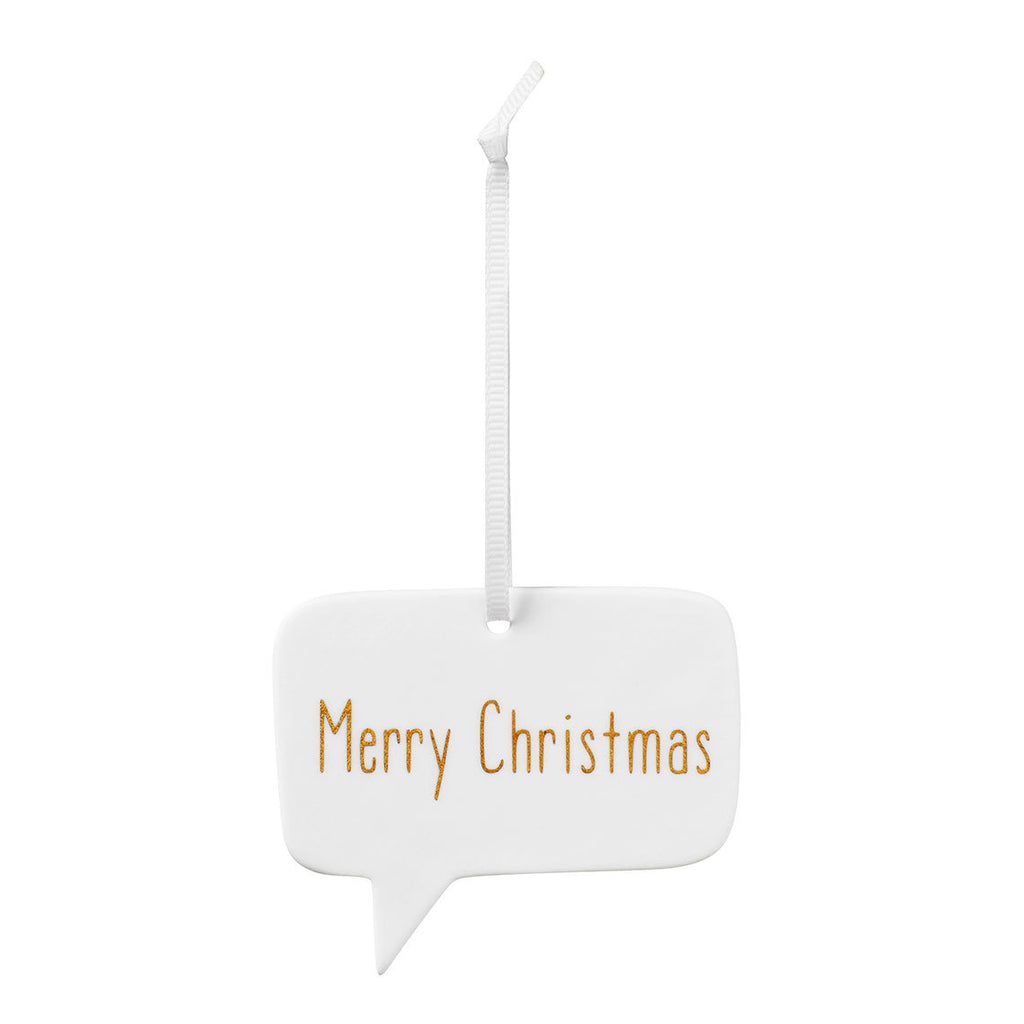 Merry Christmas Porcelain Hanging Decoration