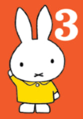 Miffy Number Three Birthday Card
