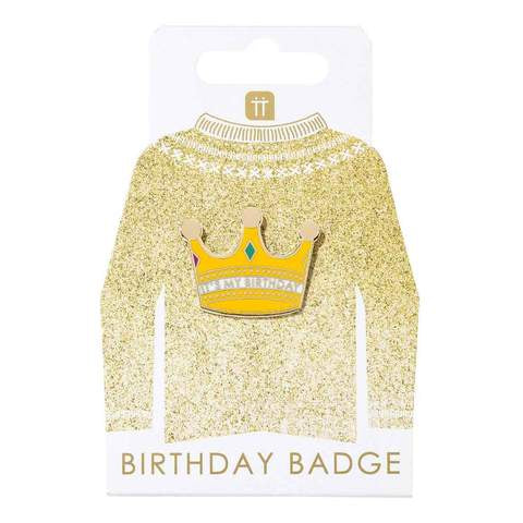 It's My Birthday Crown Badge