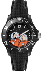 Tintin Watch - Tintin and Haddock on the Moon- Sports Strap - Small