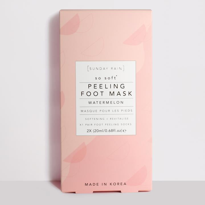 Sunday Rain Peeling Foot Mask Watermelon