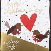 TO MY DARLING WIFE MERRY CHRISTMAS ROBINS
