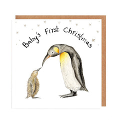 Dawn and Penelope Baby's First Christmas Card by Catherine Rayner
