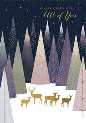 Deer In The Trees All of You Christmas Card