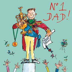 No.1 Dad Father's Day Card