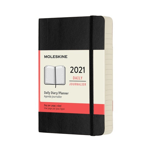 Moleskine 2021 Pocket Daily Planner Softcover Black