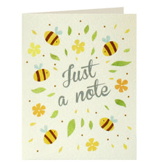 Pack of 5 Mini Notecards Bees Just A Note