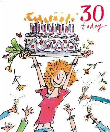 30 Today Quentin Blake Birthday Card for her