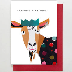 Season's Bleatings Goat Card