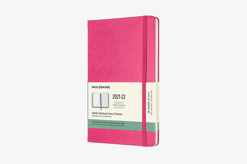 2021-22 Weekly Planner Large Hardcover Pink