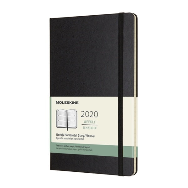 Moleskine 2020 Weekly Horizontal Large Diary Black Hard Cover