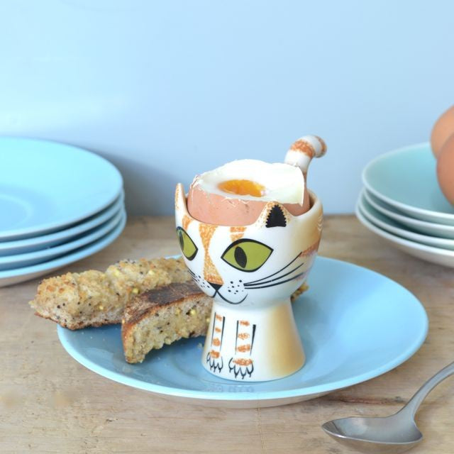 Ginger Tabby Cat Egg Cup