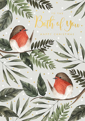 To The Both Of You Robins Christmas Card