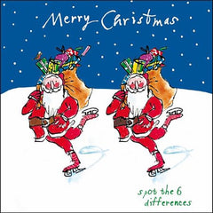 Skating Santa Christmas Card
