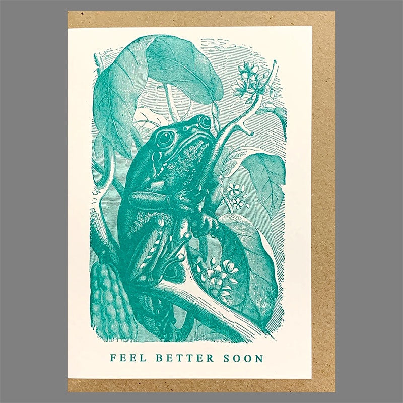 Feel Better Soon Green Frog Card