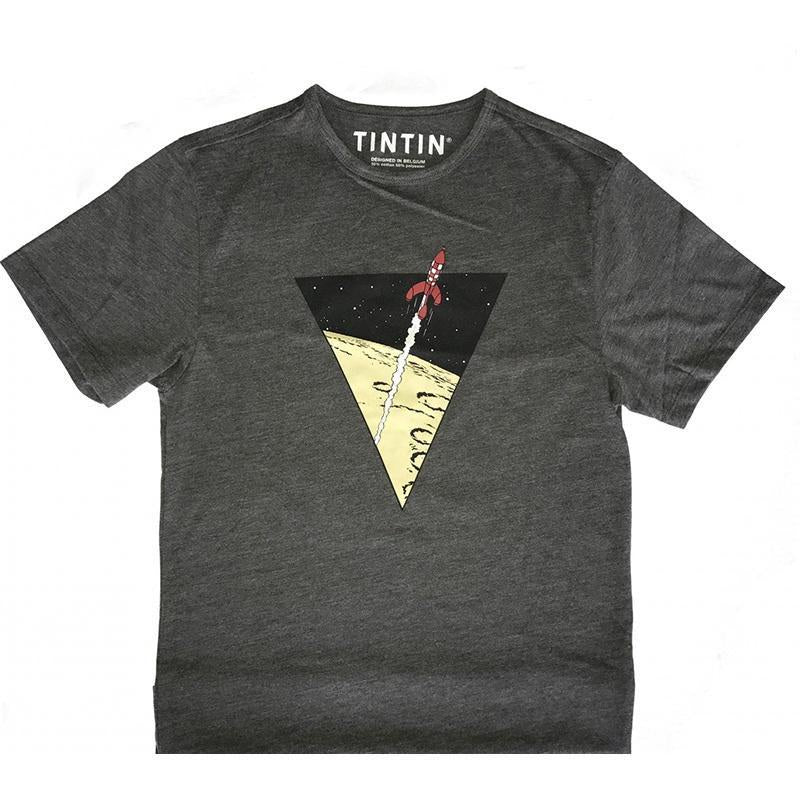 Tintin Rocket T-Shirt Grey