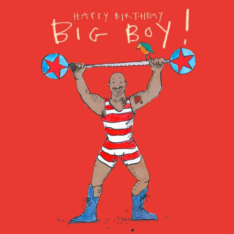 Big Boy Happy Birthday Card