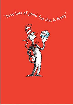 Cat In The Hat With Fish Bowl Card