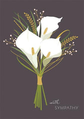 Calla Lillies Sympathy Card