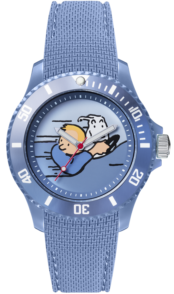 Tintin Watch-  Land of the Soviets Car - Sports Strap - Small