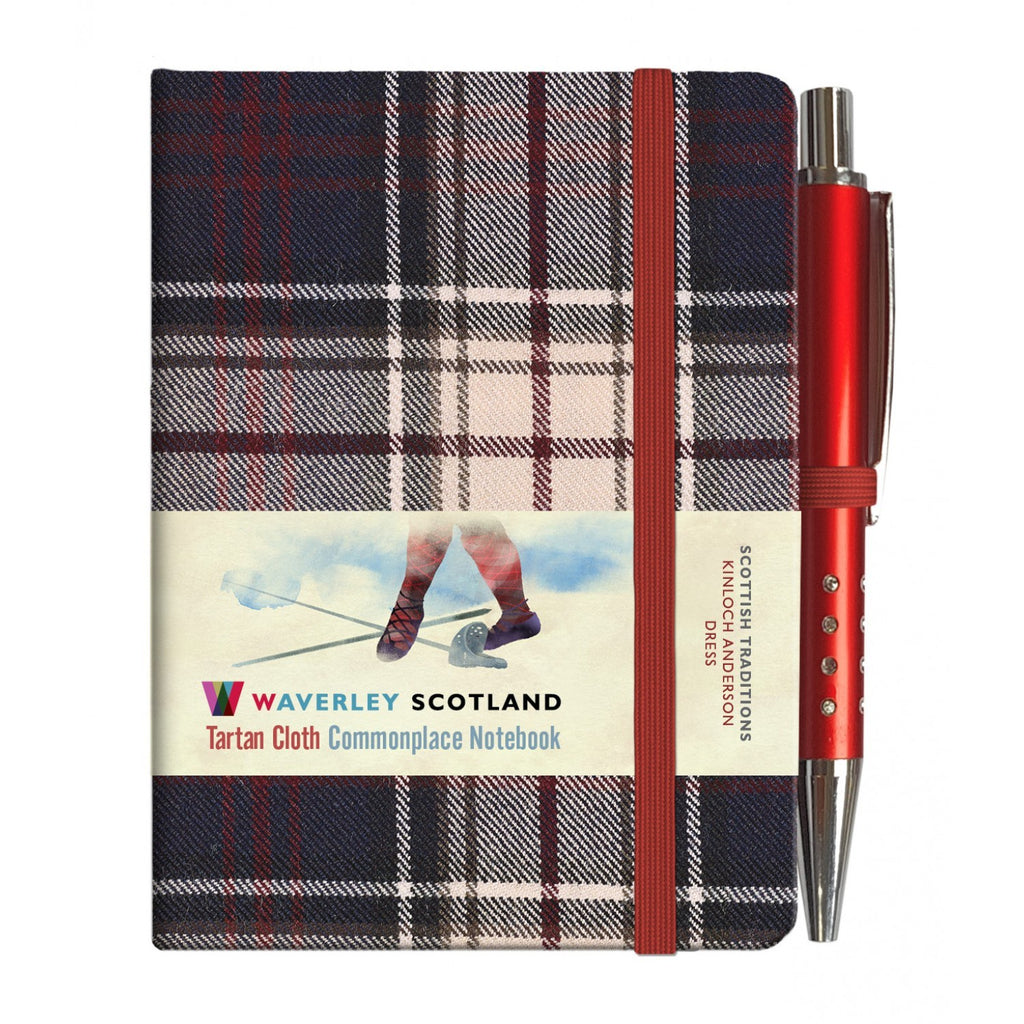 Mini Tartan Notebook with Pen - Dress