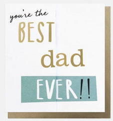 Best Dad Ever Concertina Father's Day Card