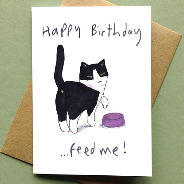 Feed Me Happy Birthday Card