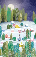 Let It Snow Village Christmas Card Pack