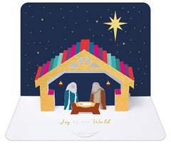 Nativity Box of 5 Luxury Pop Up Chriistmas Cards