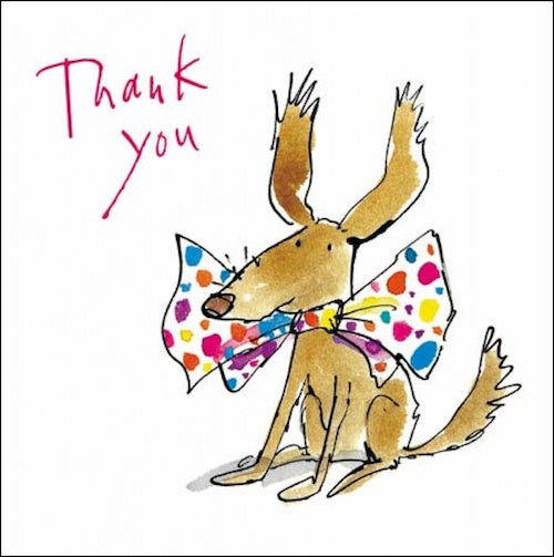 Bow Tie Dog Quentin Blake Thank You Cards Pack of 5