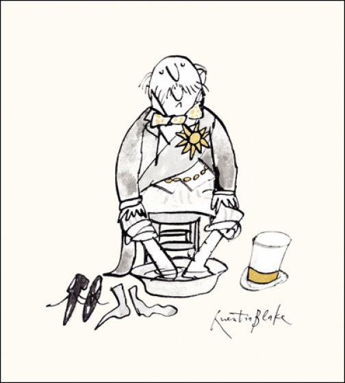 Soaking Feet Quentin Blake Card