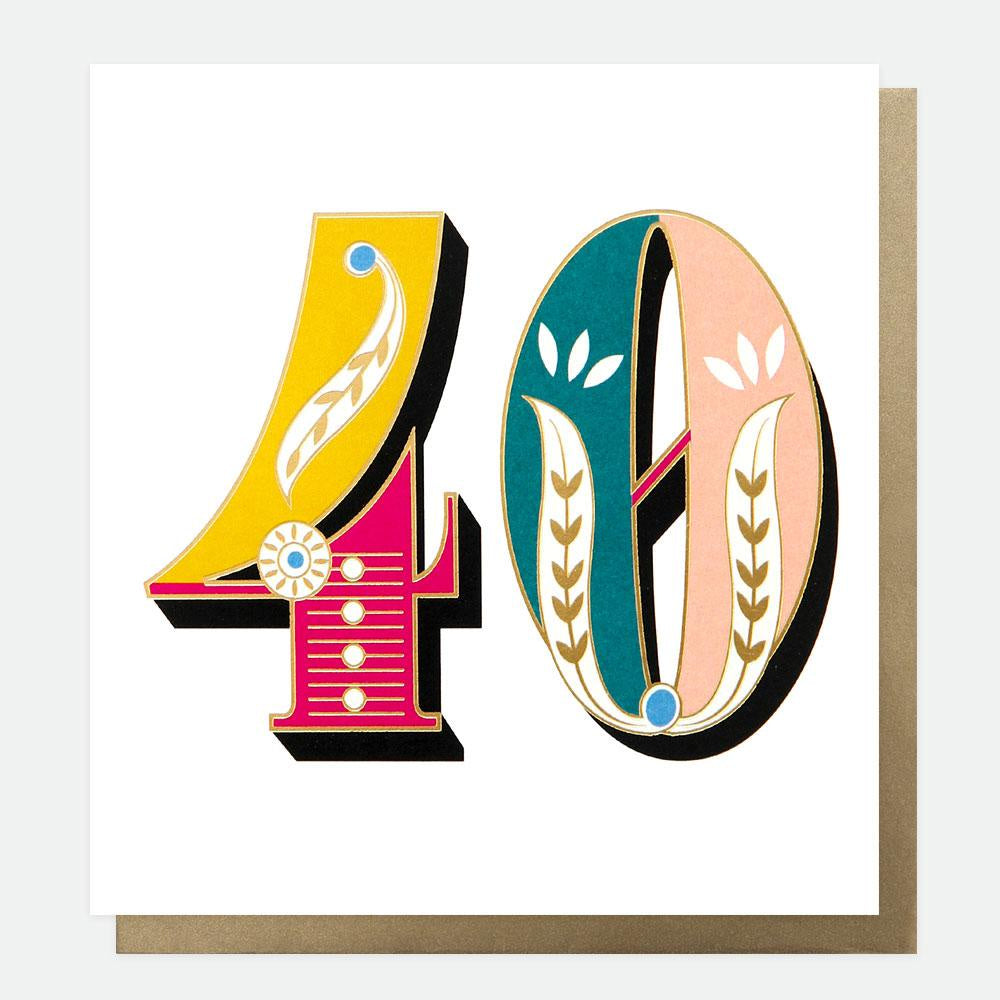 Age 40 Carnival Card