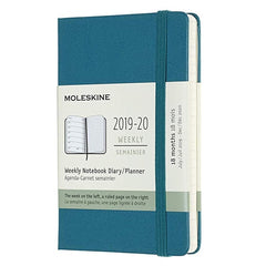 Moleskine 2019/20 Magnetic Green Academic Pocket Diary Hard Cover
