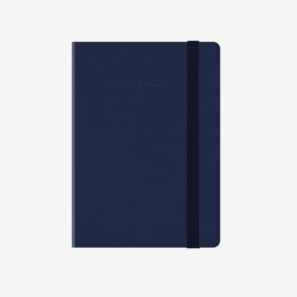 Small Squared Navy Blue Notebook