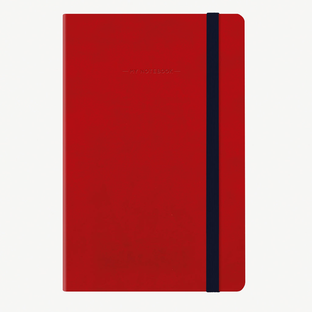 Medium Dotted Red Notebook
