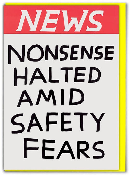 News Nonsense Halted Card