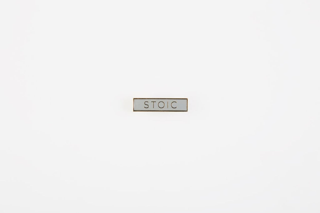 Stoic Pin Badge