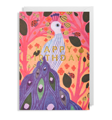 Peacock Happy Birthday Card