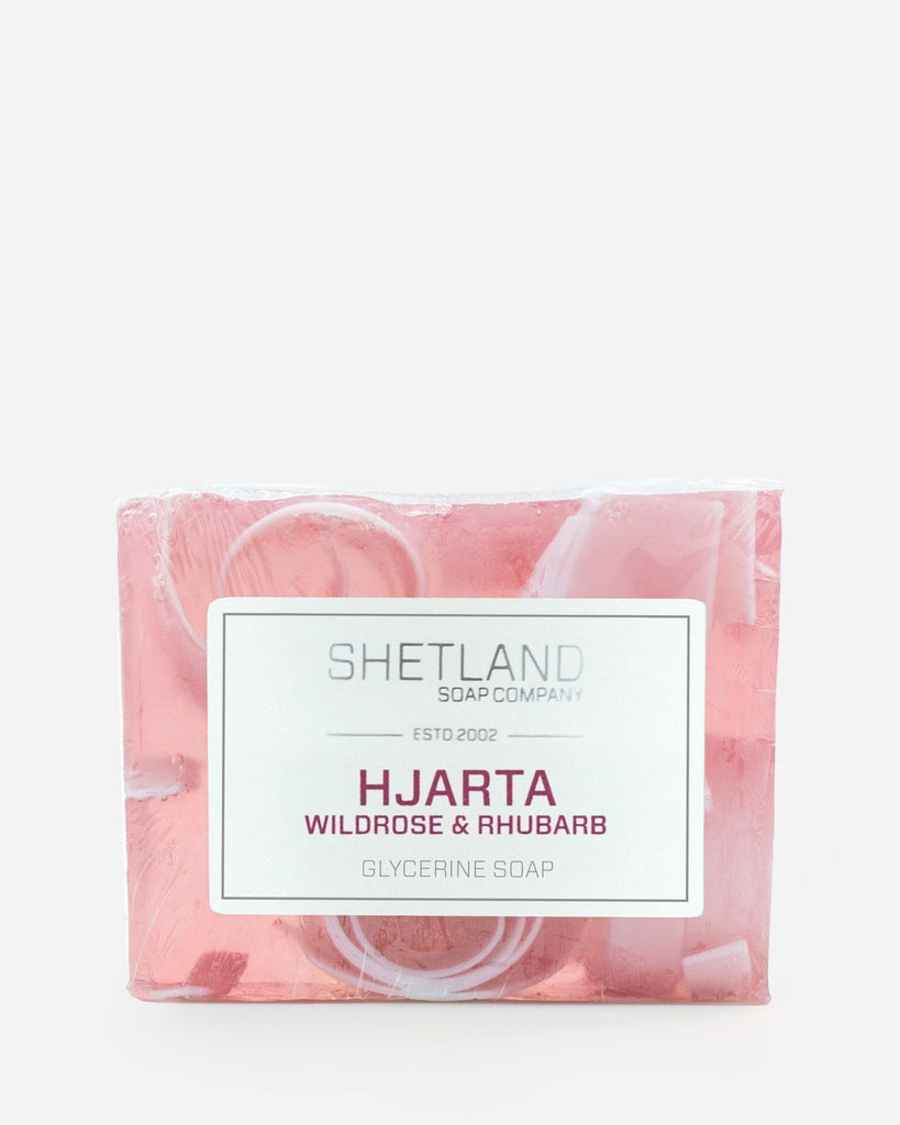 Hjarta Wild Rose and Rhubarb Glycerine Soap Bar