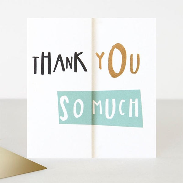 Thank You So Much Fold Out Card